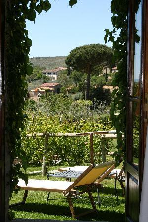 Relais Il Falconiere & Spa: View from on of our french doors