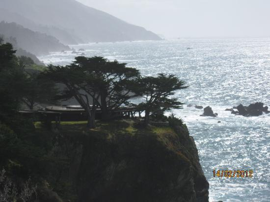 The Esalen Institute: A view of the Pacific from the spring fed pools.