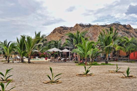 La Posada de los Tumpis: View from the beach