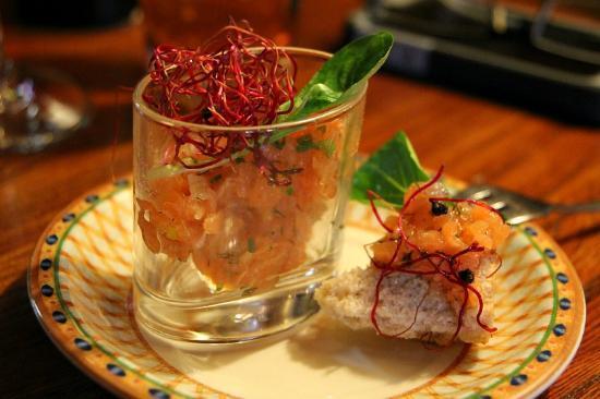 L'Auberge d'Hermance : Salmon Carpaccio