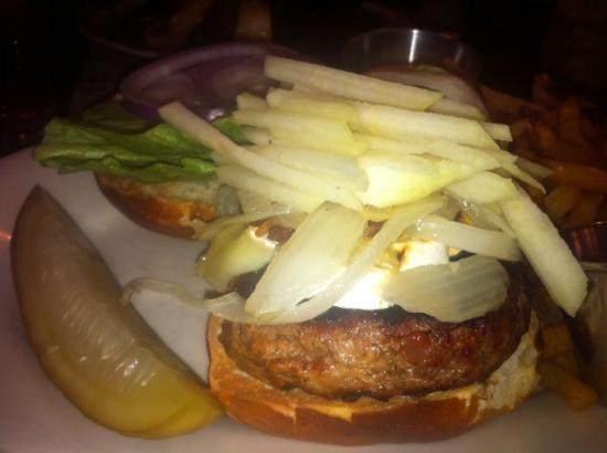 Bri and panchetta burger w/ pears
