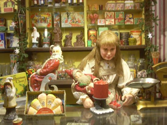 a display depicting a victorian candy shoppe at the national