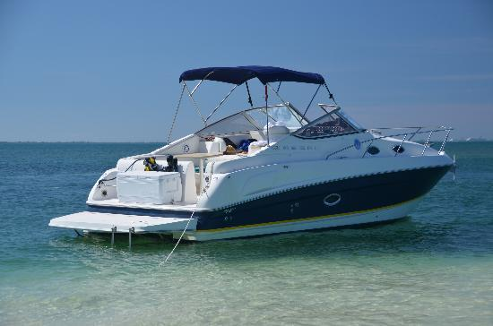 Cayman Private Charters: Our boat for the day