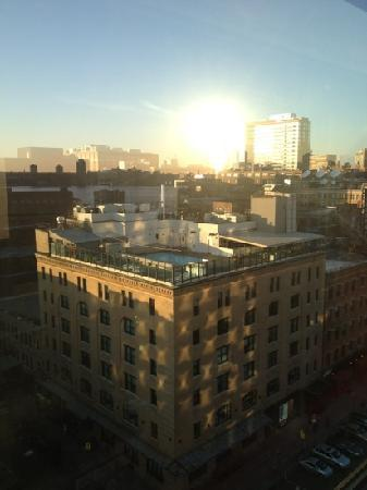 Gansevoort Meatpacking NYC: view from our room on the 12th floor