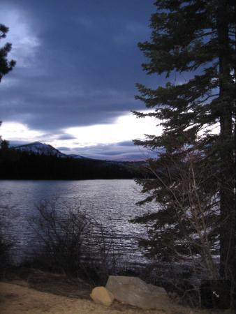 The Lodge at Suttle Lake: February sunset