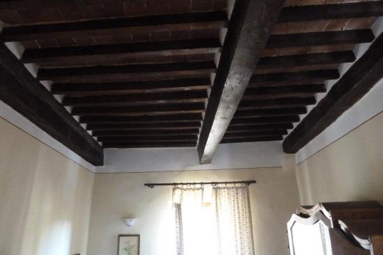 Antica Locanda: the beautigul ceiling.