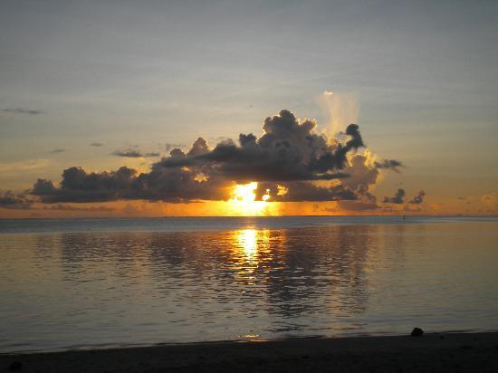 Sunset at Matira Beach