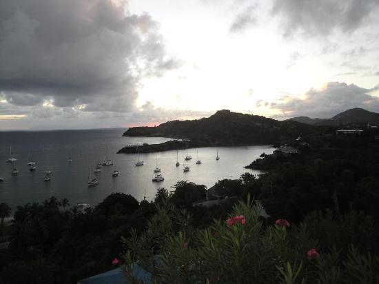 Blue Moon Antigua: Sunset from our villa
