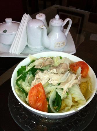 Noodle breakfast at Bloom Hotel