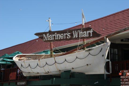 Mariner's Wharf : Outside the Mariners Wharf, Hout Bay
