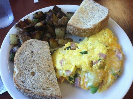 JP Pancake: Egg Omelet (a few bites gone)