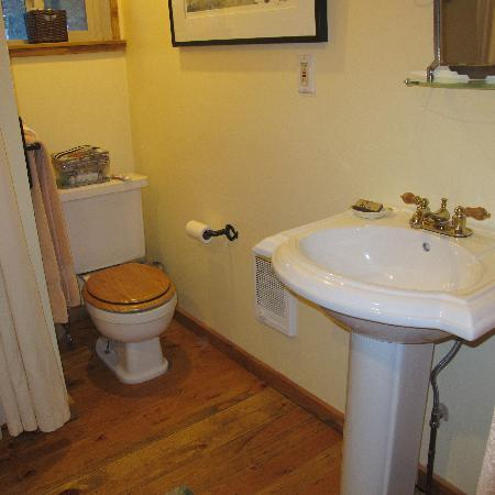 Pioneer Guest Cabins: very clean, functional bathroom