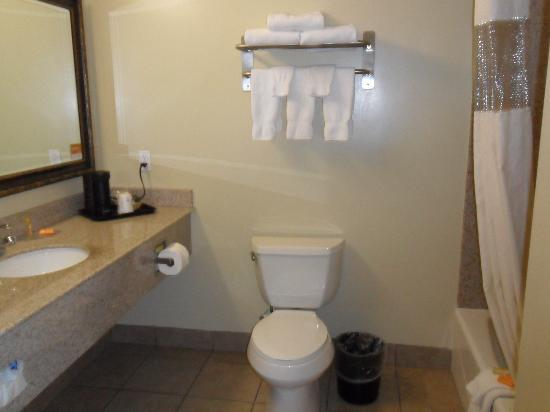 La Quinta Inn & Suites Moreno Valley: VERY spacious/large bathroom