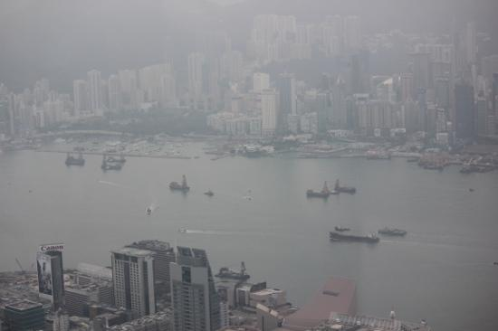 The Ritz-Carlton, Hong Kong : early morning view from our suite.