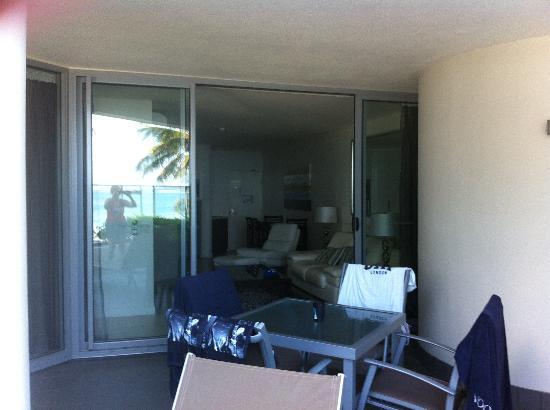 On The Beach Noosa: Balcony area
