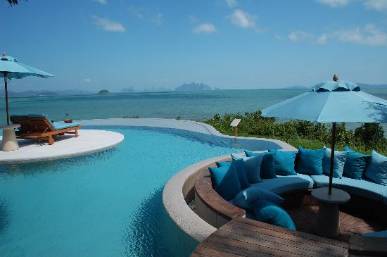 Ko Nakha Yai, Thailand: View of Phang Nga Bay from Horizon villa