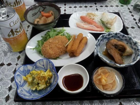 Pension Yamada: A typical yamada dinner