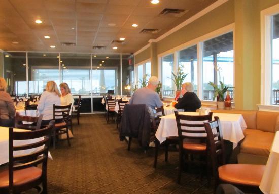 Perdido Key Oyster Bar Restaurant : Interior of dining room.  February 2012.