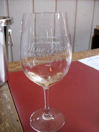 Stagecoach Wine Tours Santa Ynez: We got our own wine glasses!