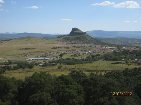 Isandlwana Lodge: View from the bedroom