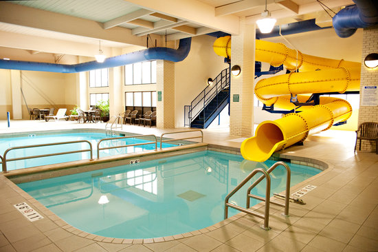 Quality Inn & Suites Jamestown: Hey kids!  Check out our Pool, Spa, 110' Waterslide, & Toddler Mushroom Cap