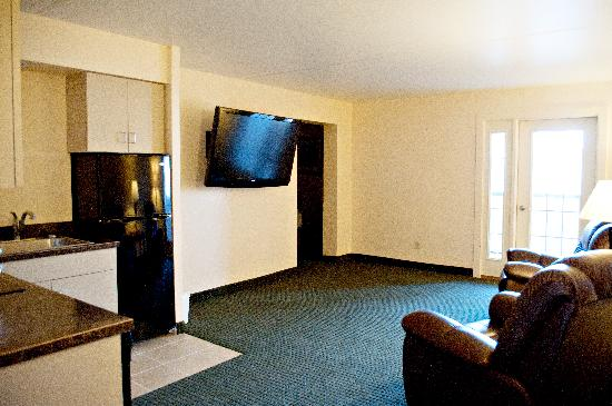 Quality Inn & Suites Jamestown: Two room Extended Stay with Kitchen and Balcony