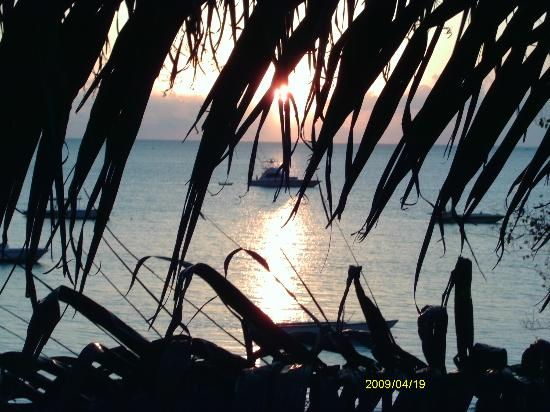 Negril Beach Club: view from veranda at sunset
