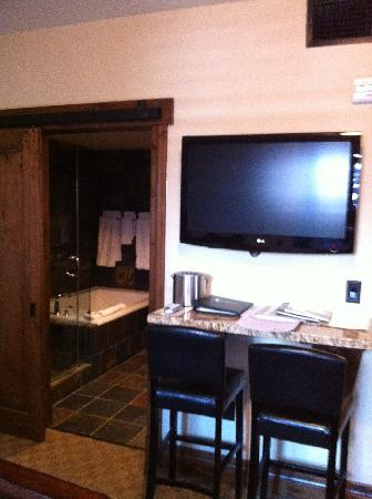 White Buffalo Club - Hotel: TV & bath in 208