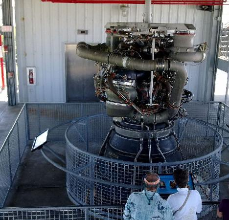 Kennedy Space Center Visitor Complex: space shuttle main engine