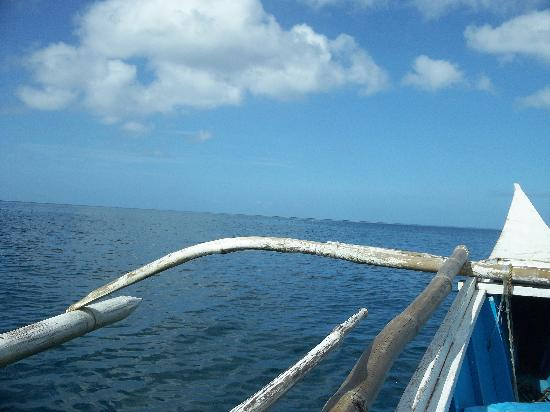 Malapascua Exotic Island Dive & Beach Resort: Travel mostly by modified fishing boat