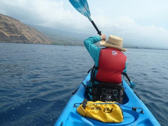 Hawaii Pack and Paddle Day Tours: Mom, lead paddler Kealakekua Bay