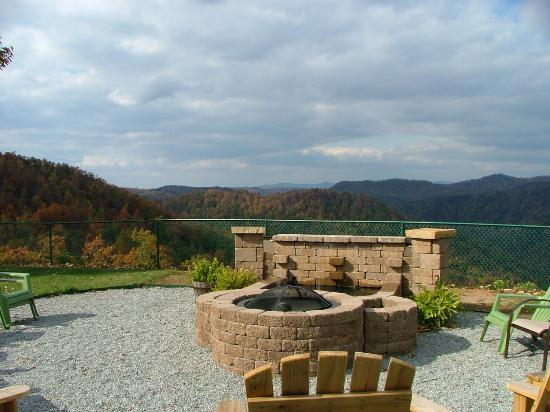 Saluda, Carolina do Norte: Fire pit