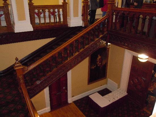 Belfast Castle: The lovely staircase
