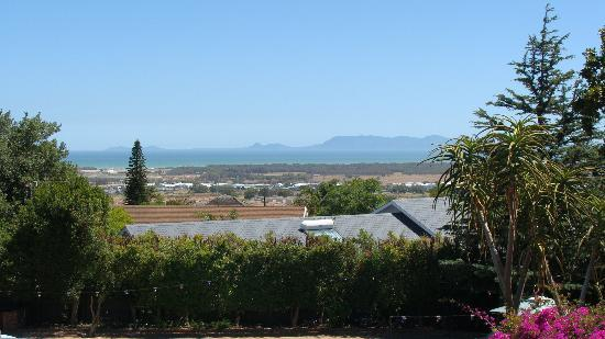 At Winkfield House: View over False Bay from terrace