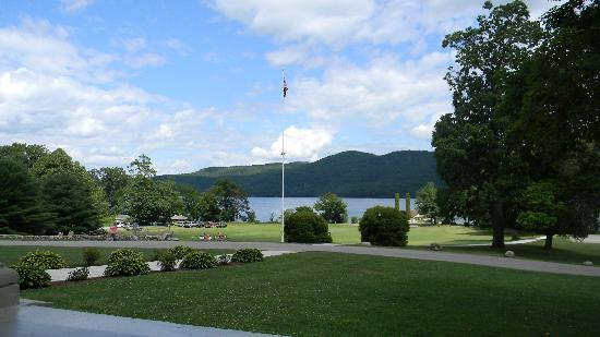 Silver Bay YMCA - Conference and Family Retreat Center : From the front porch of the main building.