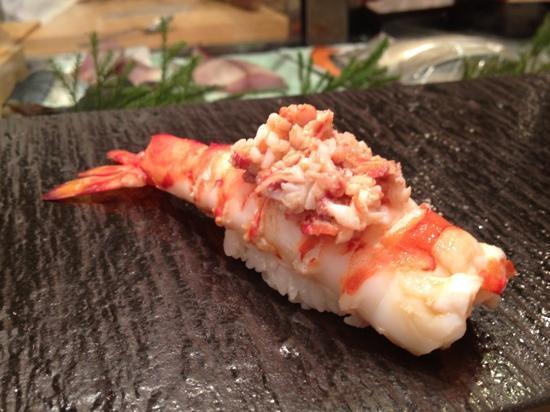 Umegaoka Sushino Midori Ginza: kuruma ebi recommended boiled