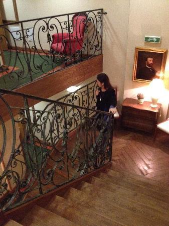 Hotel Grodek: Interiör - trapphus