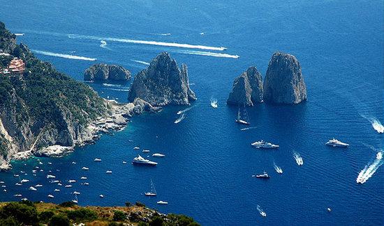 Melody Travel Sorrento, Campania Tours: Capri, The Faraglioni Rocks