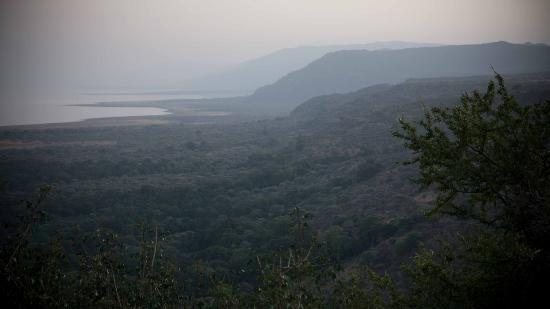 Lake Manyara Wildlife Lodge: vista dalla terrazza