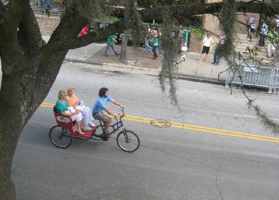 Savannah Pedicab: Avoid parking; take a Pedicab and enjoy the ride.