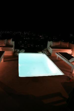Night time on the terrace