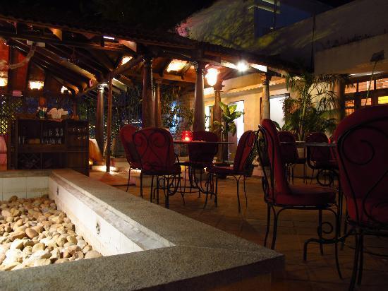 Satsanga: Rooftop dining area.
