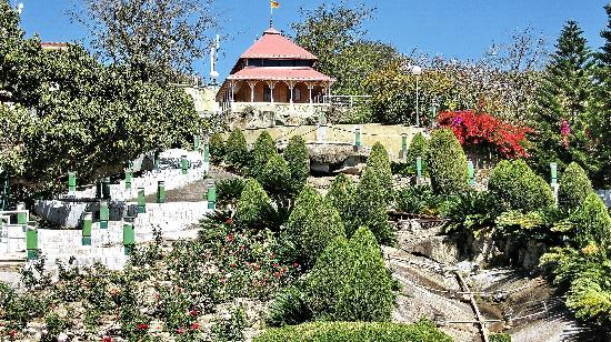 Mount  Abu: Brahmkumari Temple with lovely landscaping