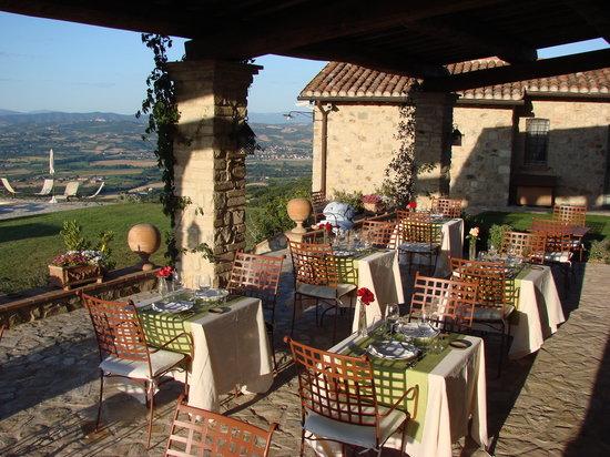 La Palazzetta del Vescovo: cena in terrazza
