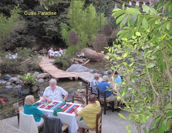Cuale Paradise: Riparian dining