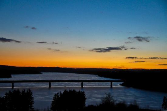 Bio-Seehotel Zeulenroda: Ausblick Sonnenuntergang