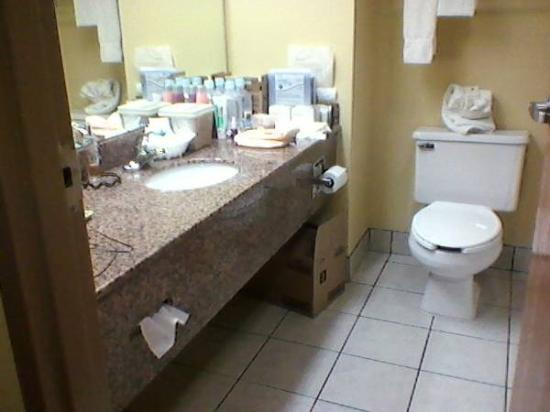 Best Western Inn Florence: bathrooms with LOTS of counter space!