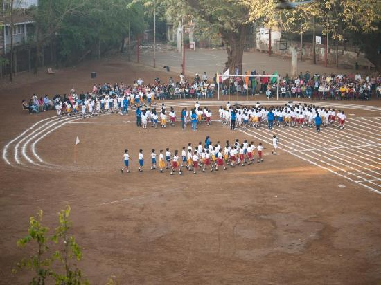 YWCA International Guest House: Annual Sports Day, Campion School. From the balcony.