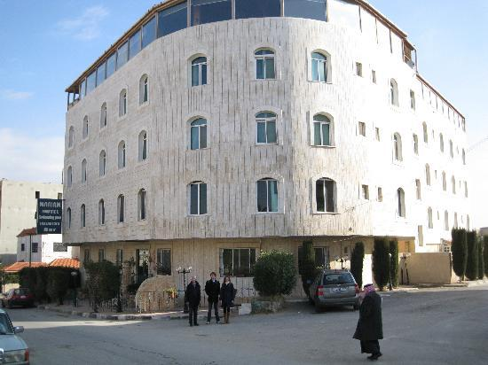 The Mariam hotel: streetside when you arrive from the citycenter