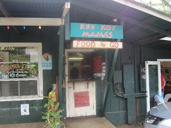 Red Hot Mama's: Front door is the store